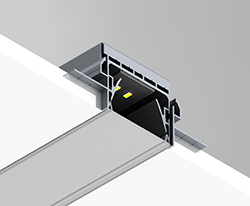 Trimmless led profile